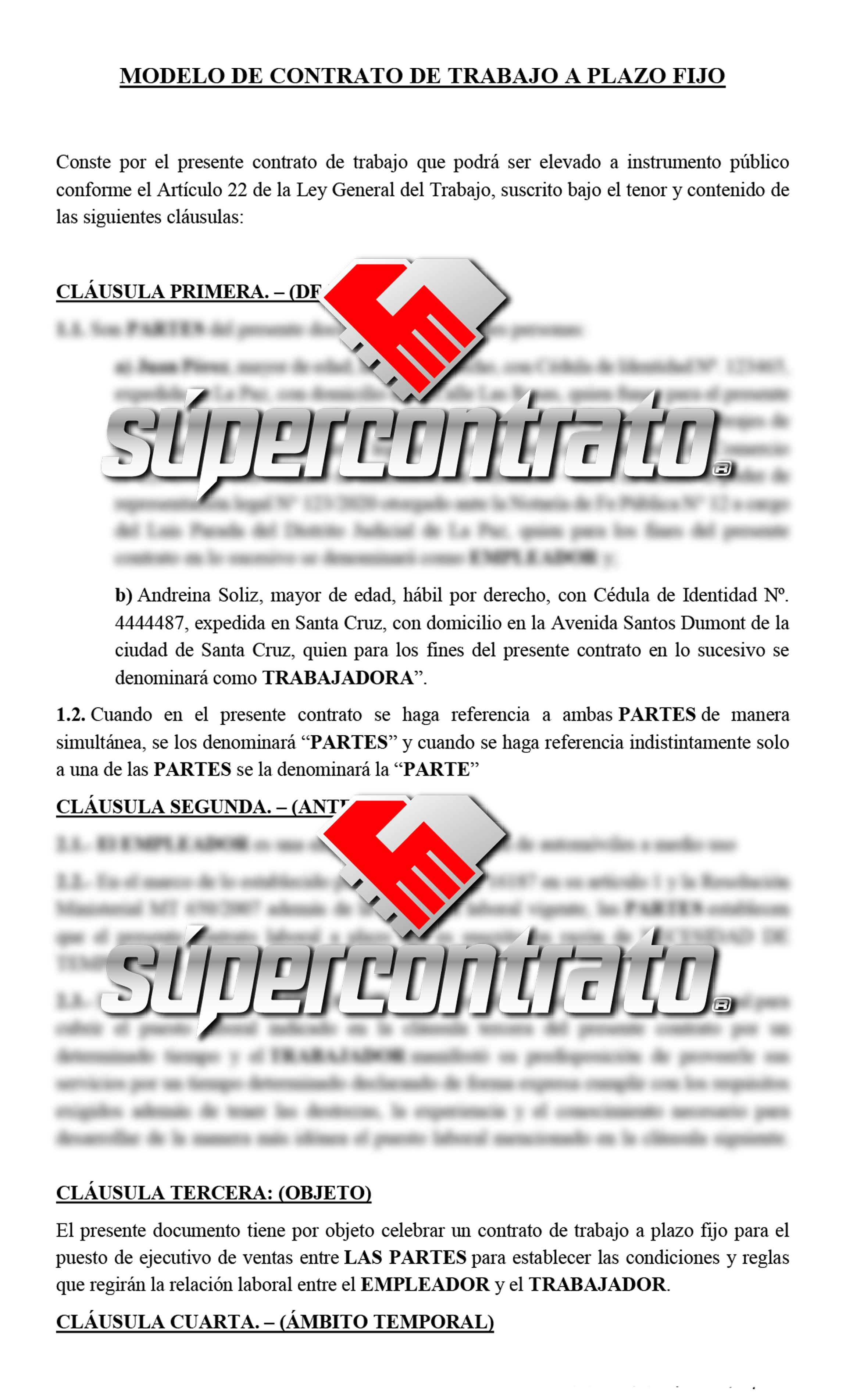 Redacción de contratos para compraventa de vehículos en Bolivia