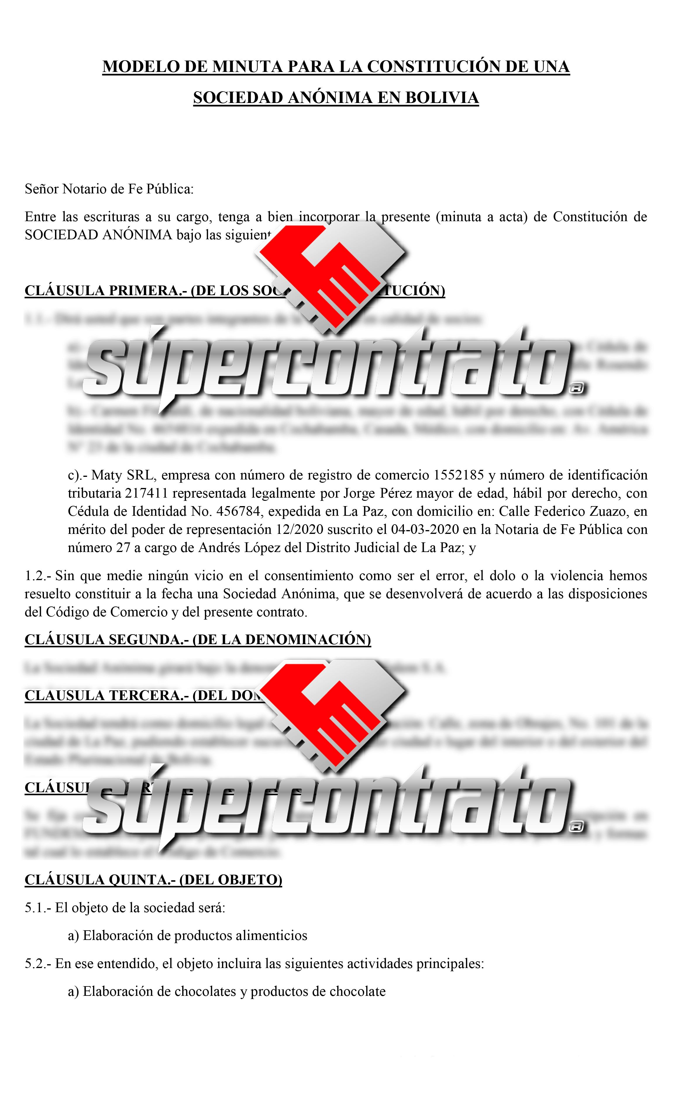 Redacción de contratos