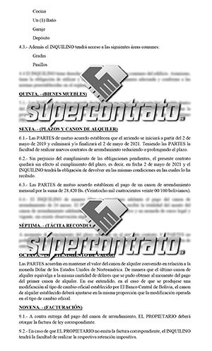 Ejemplos de contratos de alquiler
