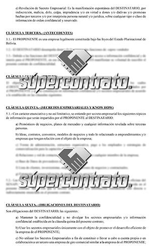 Modelos de contratos de confidencialidad
