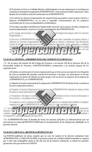 Ejemplos de contratos de confidencialidad